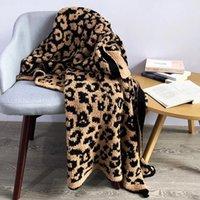 Couvertures d'impression léopard tricotée délicate hiver chaleureuse fourrure microfibre microfibre plaid lit couvre-lit moelleux adulte couverture