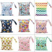 30*40cm PUL printed single pocket diaper bag, waterproof wet bag, baby nappy bags pail liner, laundry bag for baby cloth diaper 1159 Y2