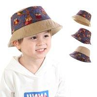 Children Accessories Kids Fisherman Cap Girls Boys Foldable Splicing Printing Sun Hats Summer Sunscreen Beach Caps Baby Soft Visor Bucket Ha