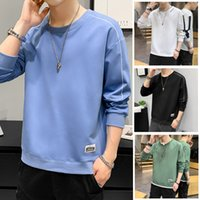 Men's Hoodies Long sleeved sweater mens round neck 2021 spring and Autumn New Korean fashion clothes Plush loose coat