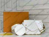 متعددة Pochette جديد موجة متعددة pochette حقيبة كروسبودي مصممين جلدية Luxurys حقيبة يد عملة محفظة سلسلة تحمل مطرزة M56461