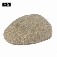 Visors The Elderly Summer Hat Male Linen Forward Cap Sunscreen Sun Customize Breathable Berets
