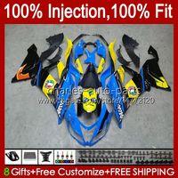 Carénings d'injection pour Kawasaki Ninja ZX 6R 6 R 636 600 CC 600CC 12NO.0 ZX600 ZX636 ZX6R 13 14 15 16 17 18 ZX-636 ZX-6R 2013 2014 2015 2017 2018 Body OEM Shank Poisson