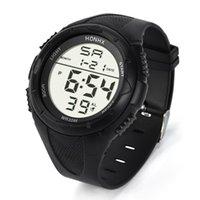 Moda Homens LED Watch Digital Sport Sport Silicone Arm Militar Quartz WristWatch Montre-Pulseira Despeje Homme para homens relógios de pulso
