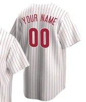 Özel Beyzbol Forması Boş Şekillendirme Philadelphia Erkekler Kadınlar Çocuklar Gençlik Formalar Adı ve Number En Kaliteli Spor Gömlek Iyi 013