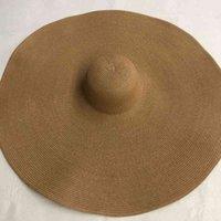 Lvtzj nova borda larga chapéus de praia grandes para mulheres grandes palha uv proteção dobrável Sun Shade Atacado Dropshipping