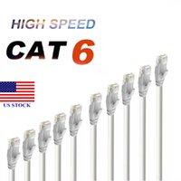 LANネットワークケーブルインターネットCAT6イーサネットパッチケーブルCAT 6モデムルーターホワイトコードロットC0006米国在庫短納期