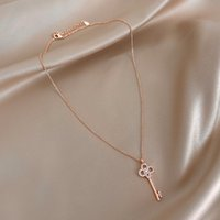 Xianlan715 Web Celebrity Key Necklace Female Niche Design Personality Temperament Of Clavicle Necklace Pendant Ins Boom Contracted