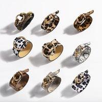 New Trendy Fashion Ins Luxury Designer Snake Leopard Stampa animale Stampa in pelle Braccialetto regolabile Braccialetto per donna