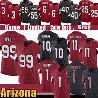 """J.J. Watt 1 Kyler Murray Deandre Hopkins Football Jersey Larry Fitzgerald Budda Baker Arizona """"الكرادلة"""" ديفيد جونسون بات تيلمان زافن كولينز تشاندلر جونز"""