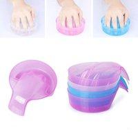 네일 아트 키트 죽은 피부를위한 목욕 트리트먼트 도구 씻어 손톱 손 경적 층 거품 그릇 깨끗한 DIY 살롱