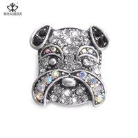 Charm Bracelets 1Pcs Cut Dog Snap Button Buttons Mixture High Grade For 18mm Bracelet Jewelry KZ0380f