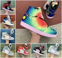 2021 Homens Mulheres 1 1S Travis Fragmento Basquete Sapatos Banned Criado Prata Toe Universidade Azul Hyper Jumpman Dark Mocha Treinadores de Chicago Treinadores Sneakers