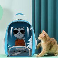 Katzenträger, Kisten Häuser transparent Rucksack Hund für kleine Haustiere Wide Vision Belüftung Großer Raum Easy Reise im Freien Tasche