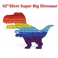 40cm Big Size Pop It Dinosaur Fidget Toys Push Pop Bubble Fidget Simpl Dimmer Anti-stress Toy Children Poppet Fidget Toy