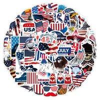 3 takım = 150 adet Yeni Amerikan Bağımsızlık Günü Graffiti Sticker Kask Dizüstü Scooter Su Kupası Su Geçirmez Sticker