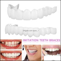 Grillz, Body Jewelry Jewelryupper Lower Cosmetic Denture Polyethylene Grills Fake Tooth Er Simation Teeth Whitening Dental Brace Oral Care B