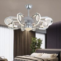 Light Luxury Fan Ceiling Lamp Crystal Living Room Simple Dining Lighting With Electric Integrated Fans