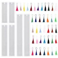 Zanaat Araçları DIY Bookmark Reçine Kalıp Seti Dikdörtgen Cetvel Takı Silikon Epoksi Marque Sayfa Kalıpları De Silicona Sanat için
