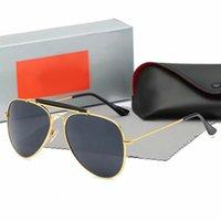 جودة عالية راي الرجال النساء نظارات شمسية خمر الطيار طيار العلامة التجارية الشمس النظارات الفرقة uv400 حظر مع مربع وقضية 3025 r1