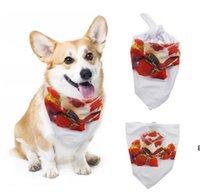 فارغة التسامي الحرارية الحيوانات الأليفة اللعاب منشفة الكلب مثلث مناشف وشاح مثلثات المرايل S-XL DHC7198