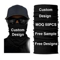 Custom Mascarillas Tube Bandana Face Mask Hiking Scarf Buff Bandanas Face Shield Headband Ski Balaclava Black Lives Matter 50PCS