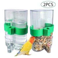القط السلطانيات المغذيات الطيور موزع الببغاء أواني الطيور الأوتوماتيكية الغذاء مكافحة رش طاعم المياه المغذية
