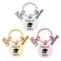2021 Class Senior Year Graduation Present Keychain School Welcome Party Favor Key Ring With Scroll Creative Student Honors Day Gift