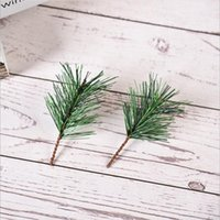 PVC Material Green Christmas Pine Needle Plant Cuttings DIY Pine Branch Decoration Christmas Tree Accessories Party Supplies