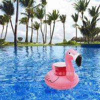 Pool Float Spaß Flamingo Aufblasbare Pool Spielzeug und Becherhalter Toll für Poolpartys Bad Time Drink Halter und Dekoration 528 x2