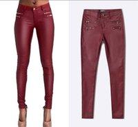 Urumbassa Spring Slim Fit PU Cuoio con cerniera Plus Size XXL Pantaloni a matita Donne Chic Pantaloni Low-Rise Capris Donne