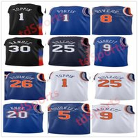 Imprimir Baloncesto Derrick Rose Jersey Elfrid Payton 6 Immanuel Quickley 5 RJ Barrett 9 Julius Randle 30 Alec Burks Custom City Ganed Edition