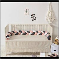 Sets Nursery Bedding Baby, Kids & Maternity220Cm Pillow Room Decor Baby Bed Bumper Infant Crib Protector Weaving Knot Drop Delivery 2021 Acpc