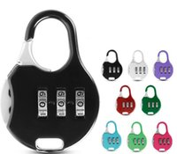 Color Mini Padlock For Backpack Suitcase Stationery Password Lock Student Children Travel GYM Locker Security Metal Cartoon