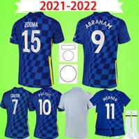 첼시 저지 21 22 WERNER HAVERTZ CHILWELL ZIYECH 축구 유니폼 2021 2022 PULISIC 홈 블루 축구 셔츠 KANTE MOUNT 여성 성인 남성 소년 키즈 세트 키트 슈트
