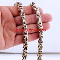 """4/5 / 8MM largo argento color oro in acciaio inox acciaio inox scatola di collegamento catena di collegamento uomo maschile collana o bracciale gioielli 7-40 """"catene"""