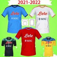 2021 2022 Napoli Camisas de futebol POLITANO Marcelo Burlon MARADONA Camisa de futebol OSIMHEN INSIGNE 21 22 SSC Naples MERTENS JERSEY Masculino Camisetas de futebol adulto