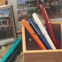 Andstal kaco retro pluma extra fina 0.38mm con cartucho de tinta Conjunto de regalo de cartucho Liso Escribir estudiante Práctica de estudiante Pense de escritura