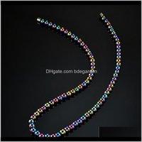 Cadenas Colgantes Colgantes Drop Entrega 2021 Joyas Magnet Piedra Cervical Vértebra Cuidado saludable Cadena de collar simple para unisex Moda FVP