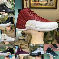 مبيعات 2021 جديد 12S Winterized WNTR رياضة أحمر ميشيغان أحذية كرة السلة ماستر أنفلونزا لعبة تاكسي 12 الرجال الرياضة أحذية رياضية مصمم المدربين