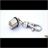Autres fournitures 1pcs Mode Mignon Keychain Style Sécurité Clignotant Led Collier Light Collier Signal Lampe Pendentif Charms Animaux Chien Cat Accessori H8Jri
