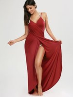 Trend Sexy Beach maxi wrap costume da bagno vestito donna estate spaghetti cinghie bikini velo split bikini copertura ups asciugamani corto gonna