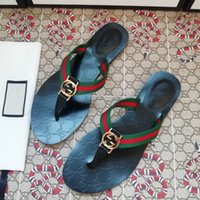 Sandali Pantofole Stazione europea Casa Double G Button G Button Stampato Flip Flop Coppia Pantofole da donna Clip da donna Estate Clip Clip Cross Scarpe da uomo [finito