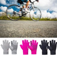 Cycling Gloves Outdoor Fishing Unisex Sunscreen Half Silk Fingerless Breathable Sports Finger Ice I8C4