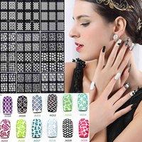 12 Tips sheet Nail Art Stencil Stickers Mesh Pattern Nail Vinyls Easy Use Jv Series
