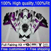 Injektions-OEM-Körper für Suzuki GSXR600 GSXR-750 GSXR-600 600cc 08 09 10 22No.149 GSX-R600 K8 750cc GSXR750 2008-10 GSXR 750 Lila White 600 CC 2009 2009 2010 Verkleidung Kit
