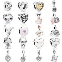 925 Sterling Silver Knotted Heart Dangle Charm Clip Stopper Beads for Mom Mother Fit Original Pandora Bracelet Bangle Mother's Day Jewelry Gift