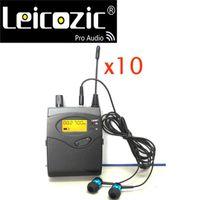 Leicozic 10шт приемники для беспроводной системы SR2050 Win-Ear Monitor с наушником Professional Stage Equipments Studio Recording Microphones