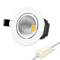 LED COB Downlights6w 9 W 12 W 15 W Dim Dim Olmayan Dim Ev Aydınlatma Sıcak Soğuk Beyaz Tavan Işıkları AC85-265V Güç Sürücüleri ile