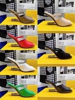 2021 유럽의 최신 여성의 하이힐이있는 슬리퍼 패션 물고기 입 신발 특별 모양의 힐 디자인 섹시한 멀티 컬러 크기 35-41